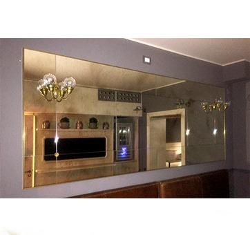 Specchiere su misura a riquadri con dettagli in ottone pescetta - Specchio antichizzato ...