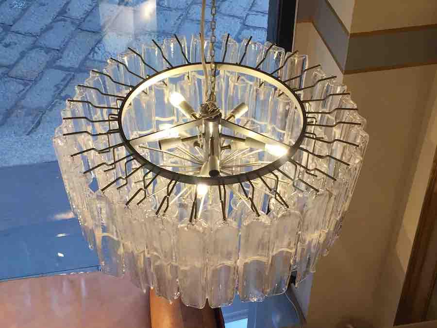 Lampadari vetro di murano anni 70 vistosi per mazzega u2013 pescetta