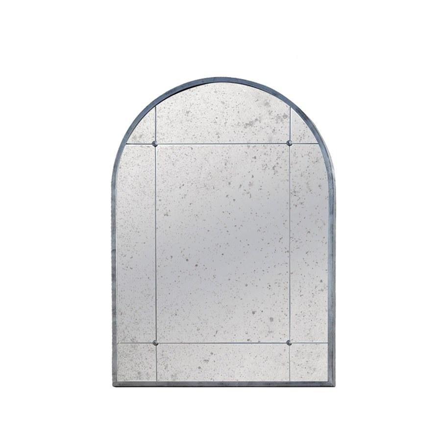 Specchiera su misura con Cornice in ferro finitura foglia argento e  specchio anticato