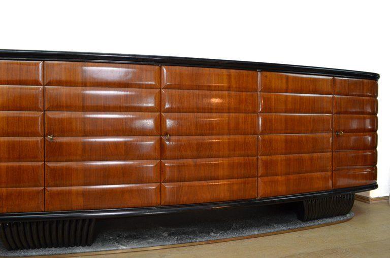 La Credenza In English : Vittorio dassi modern italian wood and green marble credenza for