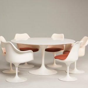 Tavolo Saarinen Knoll.Eero Saarinen Knoll Production 1960s Chairs And Tulip Laminated Table